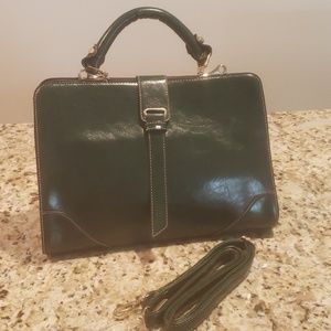 Handbags - Forest green handbag.